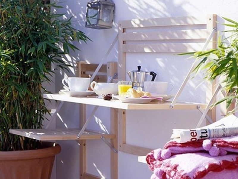Muebles plregables para decorar balcones pequenos